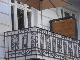 zuhause auf dem balkon balkonbespannung. Black Bedroom Furniture Sets. Home Design Ideas